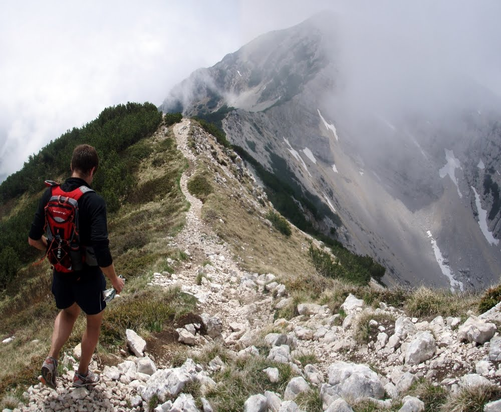 Trail running in the Dolomites, 145 kb