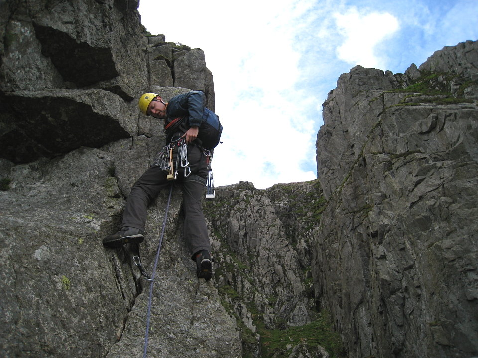 Bendy budget boots could be a liability on steep ground (and not just rock climbs), 166 kb