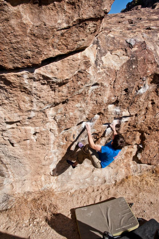 Author on the classic sandbag El Burro (V3), 182 kb