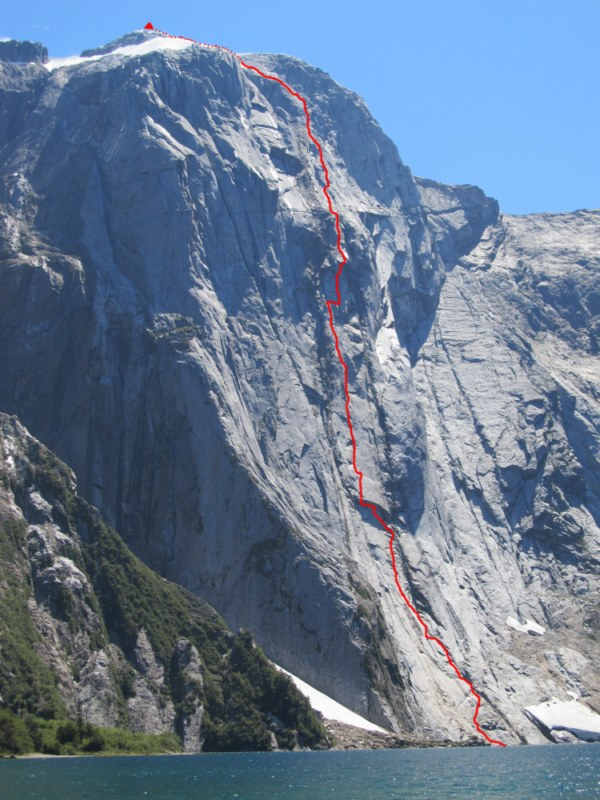 Topo: Espiadimonis, Serrania Avalancha, 1500m, A4/6b, 119 kb