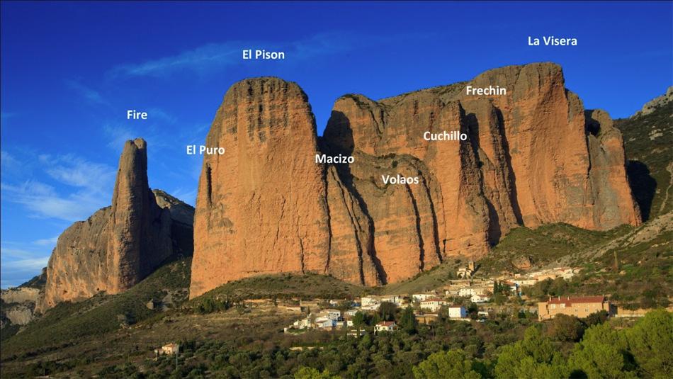 Los Mallos De Riglos, Sector Names, 216 kb
