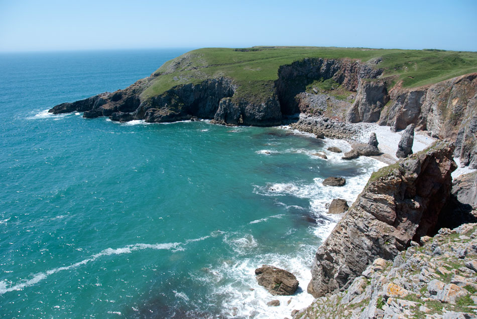 Pembrokeshire coast path and Flimstone Bay, 169 kb