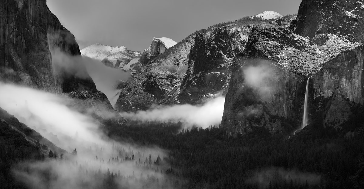 After the storm, Tunnel View in Yosemite, 141 kb