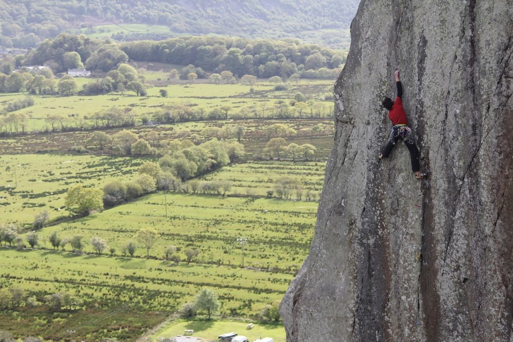 Hansjorg Auer onsighting Strawberries, Tremadog, 174 kb