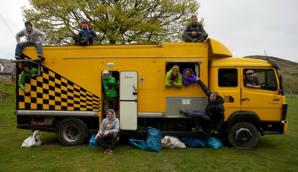 The team truck on the campsite in Llanberis, 118 kb