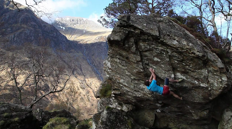 Dave MacLeod on the first ascent of his new boulder problem The Natural Method, 178 kb