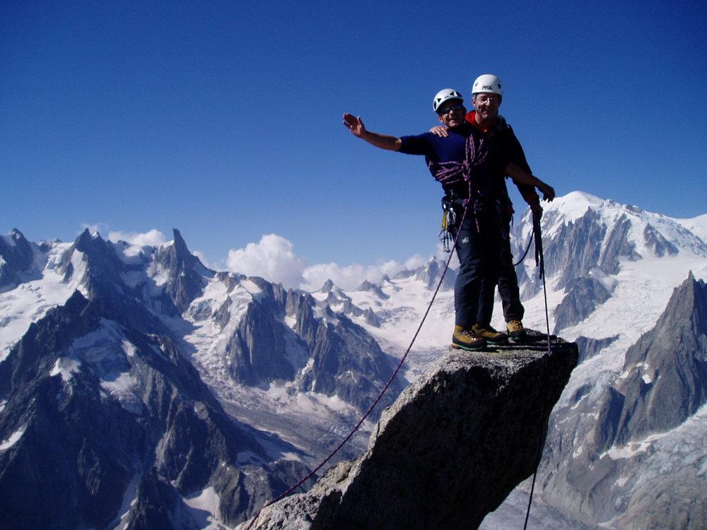 Lolo Miston and Philippe Girod on Moine summit, 133 kb