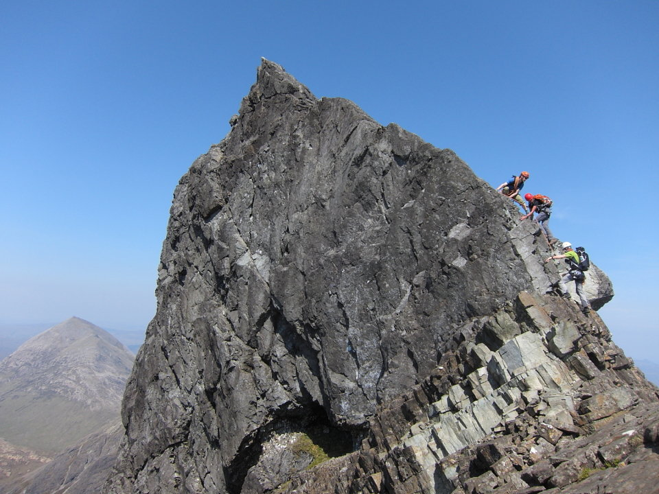 Daily blogs from guides - a useful source of info. Alpha Mountaineering's Nick Carter and clients on Clach Glas, 152 kb
