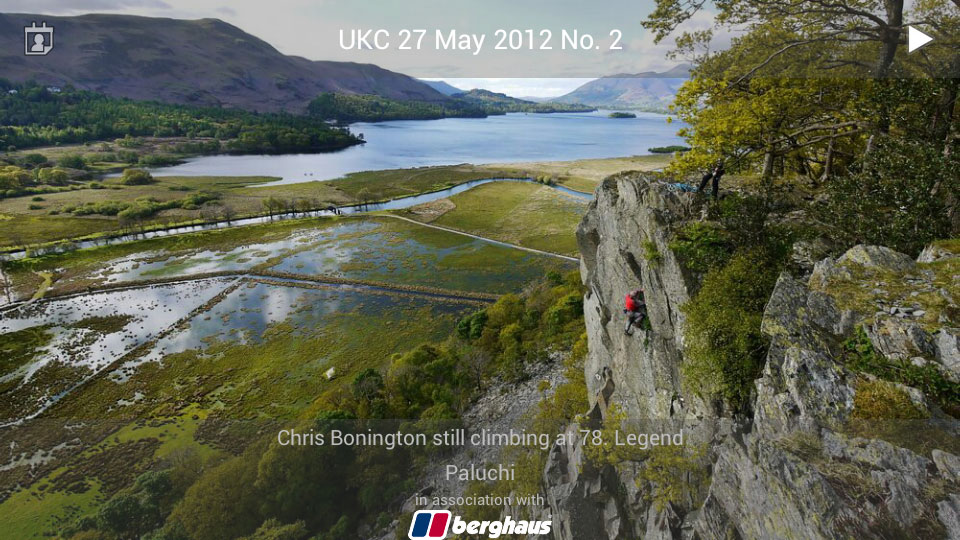 UKC Top Photos App: Chris Bonington still climbing at 78, legend!, 164 kb