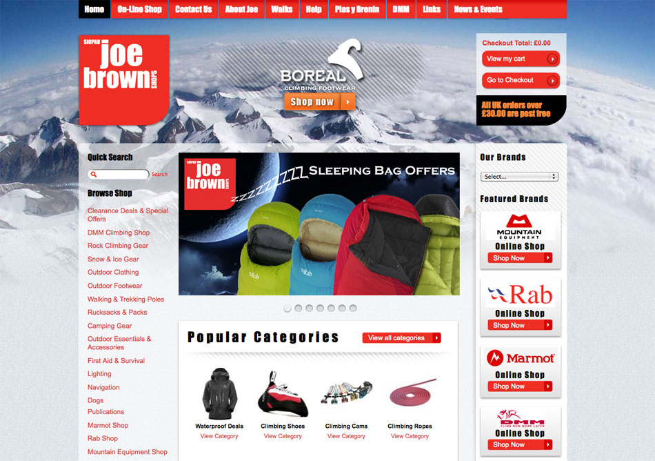 Joe Brown's New Website, 152 kb