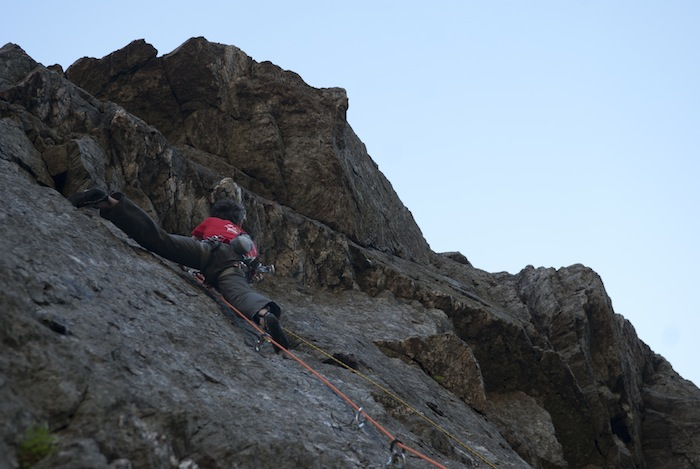 James McHaffie on The Tower of Midnight (E8) Llanberis Pass, 84 kb