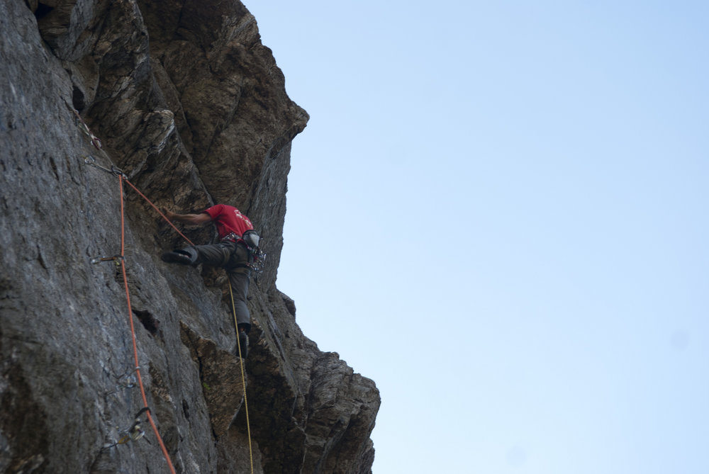 James McHaffie on The Tower of Midnight (E8) Llanberis Pass, 99 kb