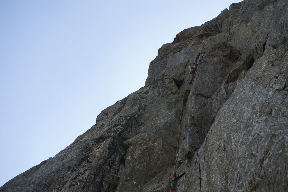 James McHaffie on The Tower of Midnight (E8) Llanberis Pass, 138 kb