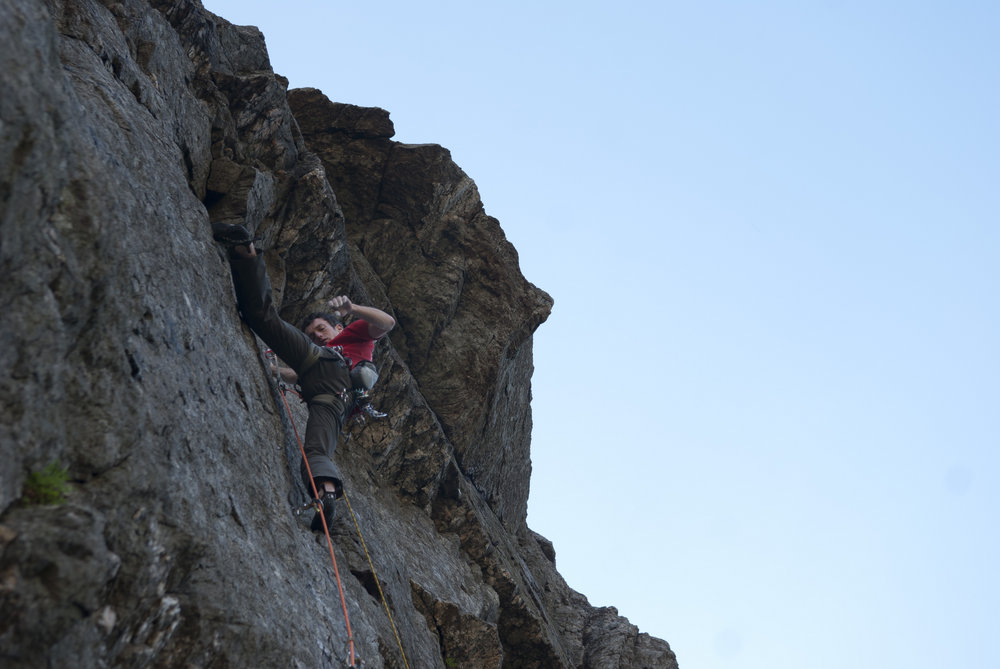 James McHaffie on The Tower of Midnight (E8) Llanberis Pass, 112 kb