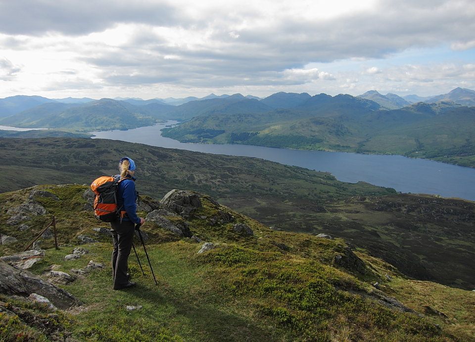 Loch Katrine and the southern Highlands from Ben Venue, 159 kb