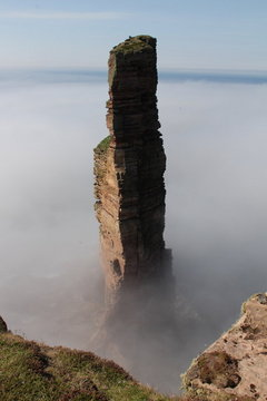 The old man of Hoy- I can just be seen on top. Photographer Tony Burkitt (many thanks!), 22 kb