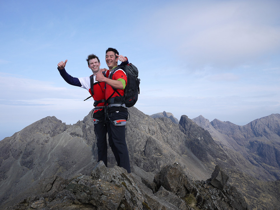 James Turnbull and Phil Applegate - The Outside Team - on the Ridge. Celebrating? Did they win?, 202 kb