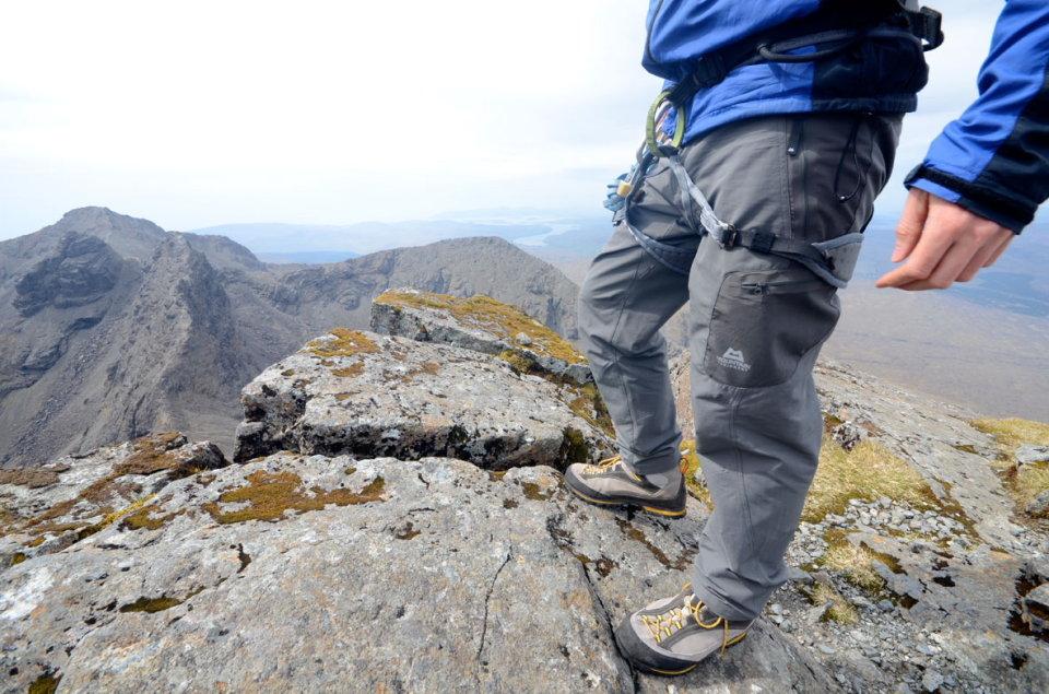 ME Stretchlite Guide pants on Sgurr nan Gillean, 147 kb