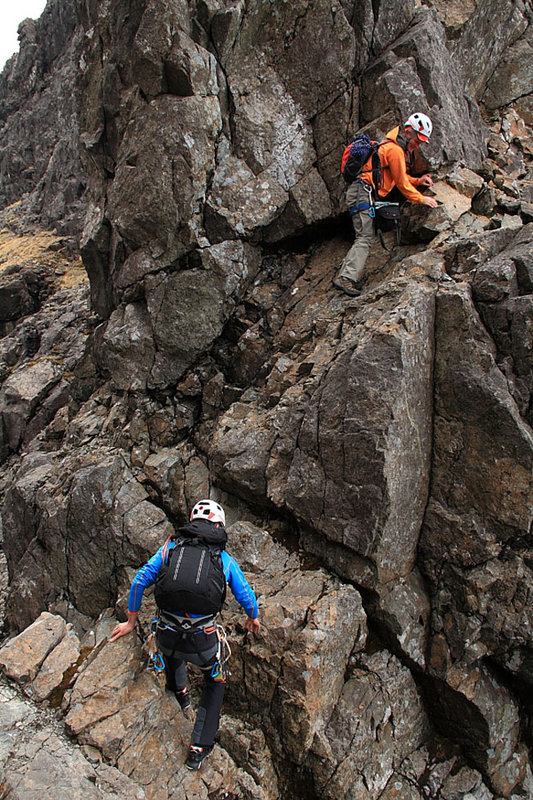 Rob Sykes and Mick Ryan navigating a loose section of Pinnacle Ridge., 181 kb