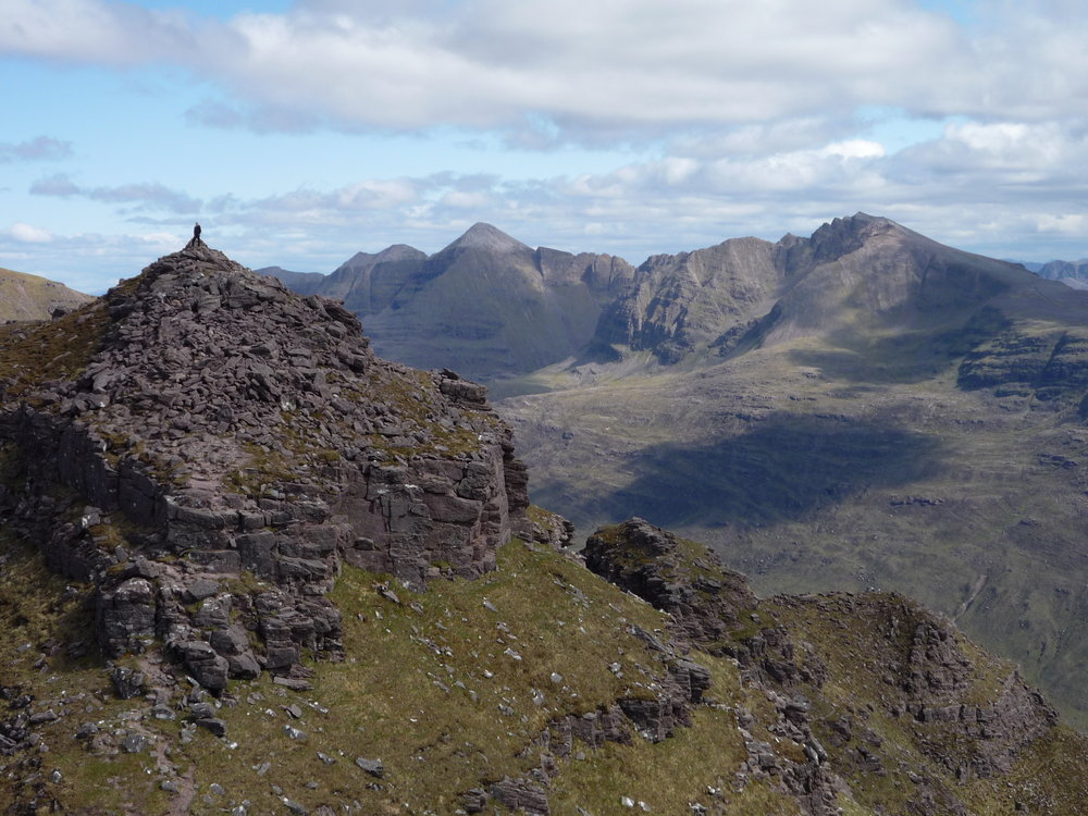 Liathach, and the final horn of the horns of Alligin from Beinn Alligin., 174 kb