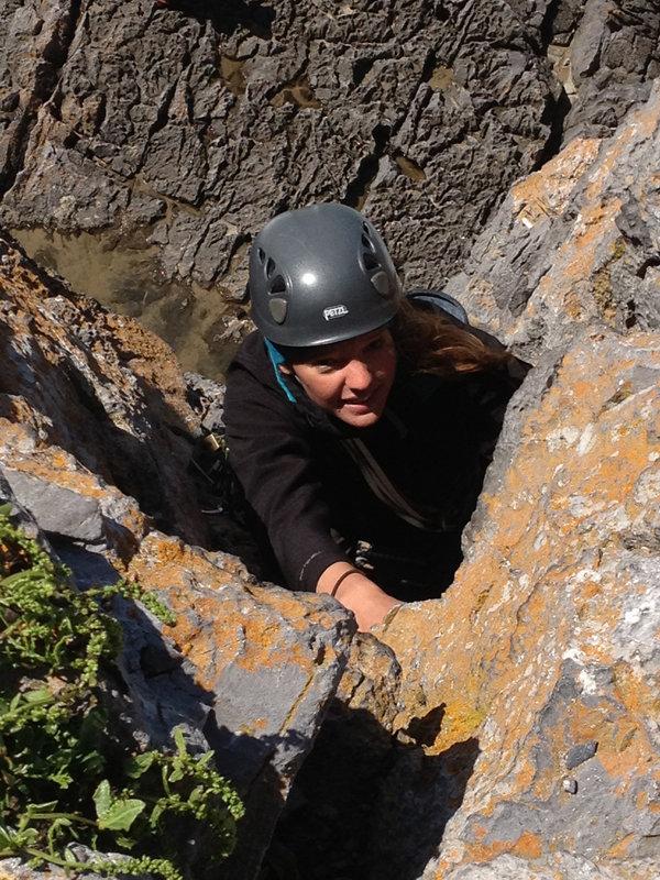First 'proper' lead climb; Saddle Head, 168 kb