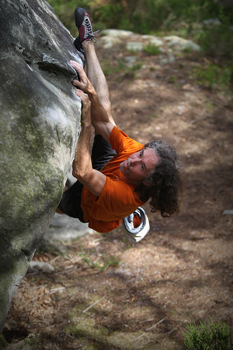 Jean-Pierre Bouvier on Fou rire, 8C, Fontainebleau, 144 kb