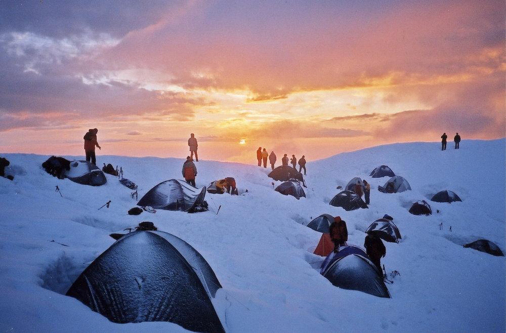 After the storm - near the Refuge du Gouter, Mt Blanc, 106 kb