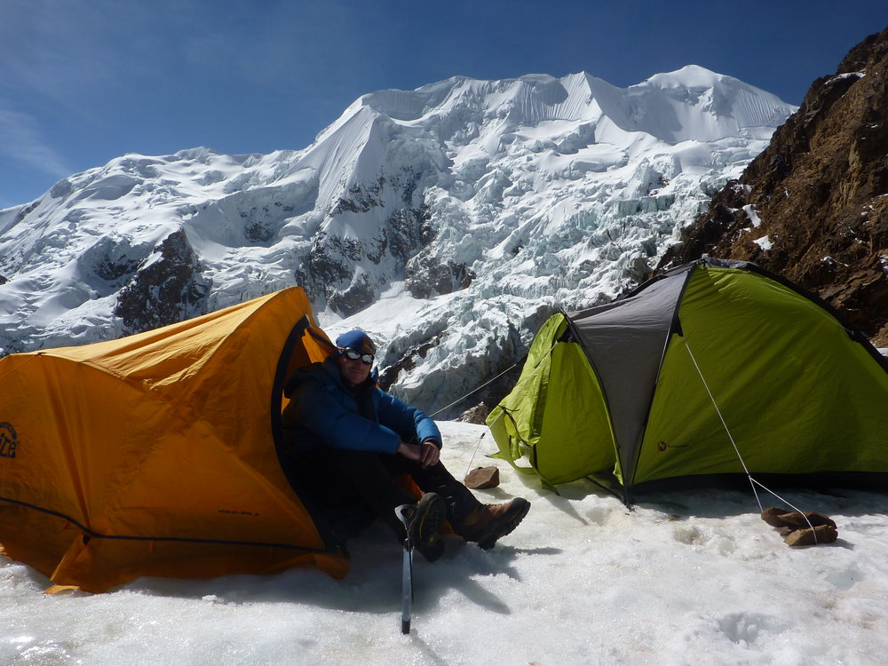 Nido de Condores - High Camp on Illimani -5400m, 171 kb