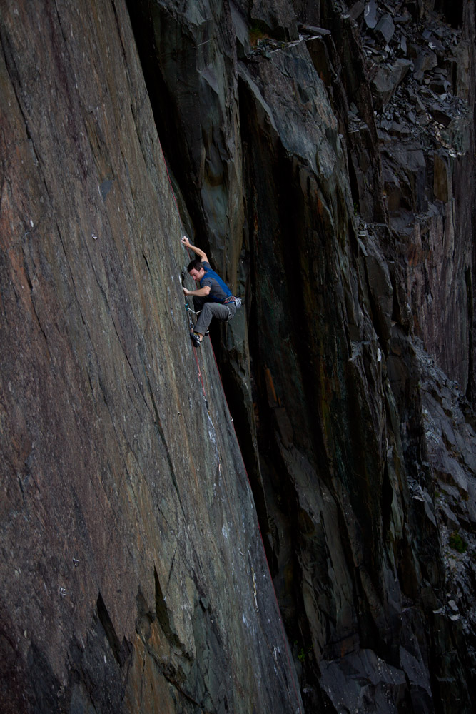 James McHaffie on 'The Meltdown' - The UK's hardest slab route, and possibly 9a, 208 kb