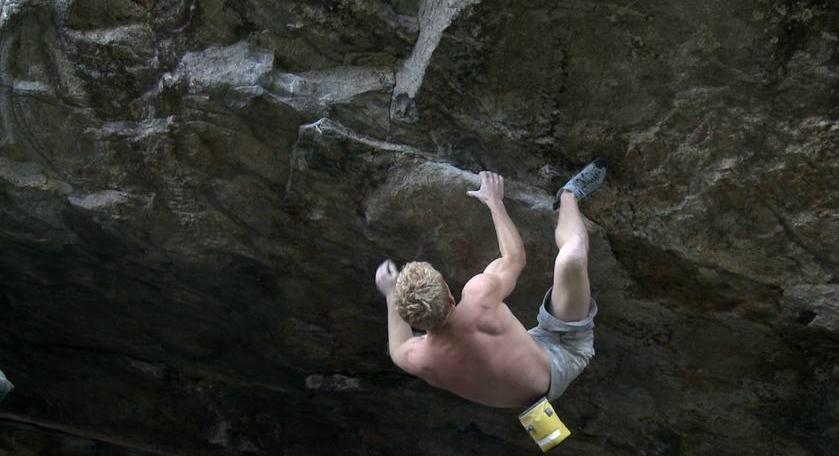 Magnus Midtbö on Blood redemption, 8C, Matre, Norway, 220 kb