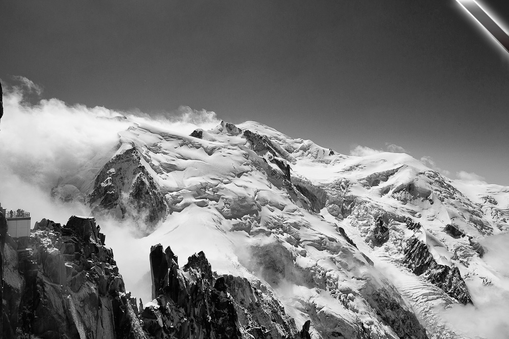 A photo tribute to mountaineers who didn't return from Mount Maudit. © Kamil Tamiola