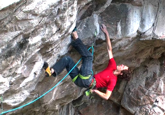 Adam Ondra on a 9b+ project at Flatanger, Norway, 98 kb