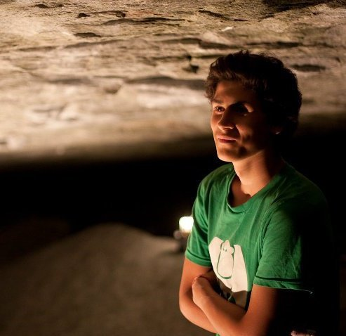 Andy Gullsten in the Darkness cave, Magic Wood, Switzerland, 39 kb