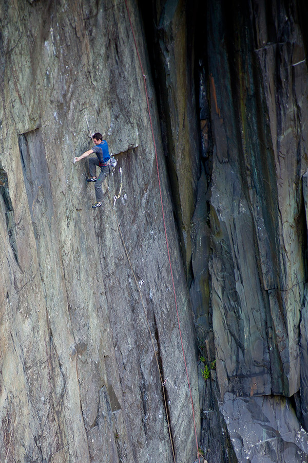 James McHaffie on The Meltdown, 9a, just a couple of days before his successful ascent., 208 kb