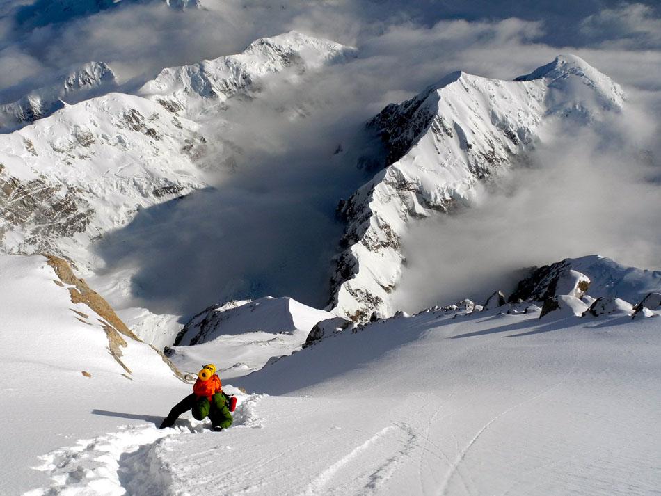 Tom Livingstone slogging towards the summit, 141 kb