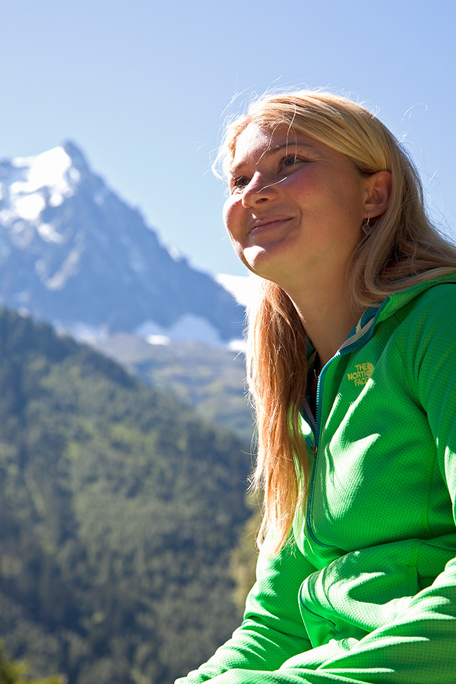 Hazel Findlay in Chamonix, France, 214 kb