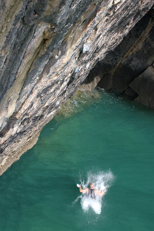 The water hadn't warmed up yet for the year, and despite the wetsuit, Neil nearly caught hypothermia, so had to wait., 168 kb