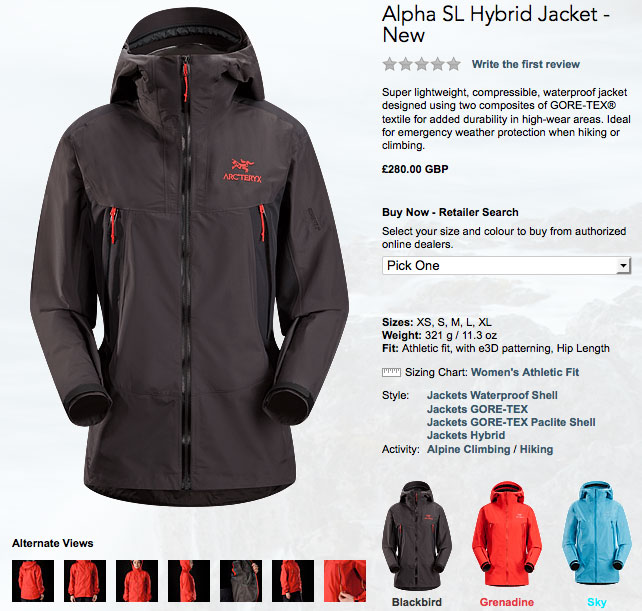 alpha jacket, 90 kb