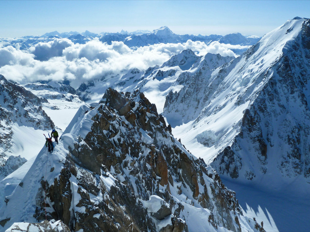 On the Forbes Arete en route to the West Couloir of the Chardonnet, 261 kb