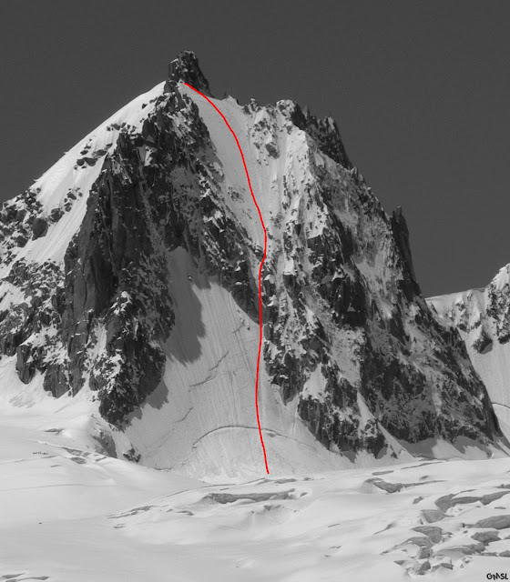North Face of the Tour Ronde, 78 kb