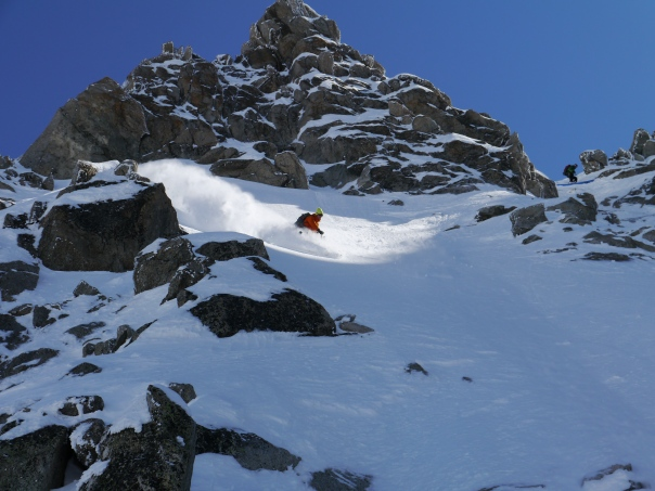 In the heart of the Chardonnet West Couloir, 117 kb