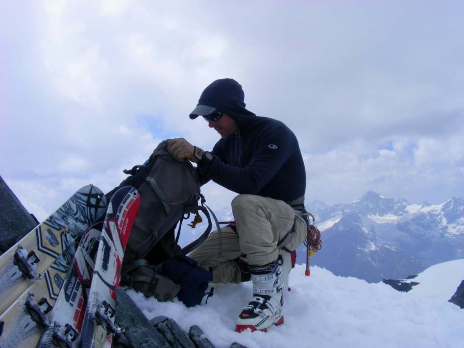 On the summit of the Allallinhorn after a ski ascent in June, 91 kb