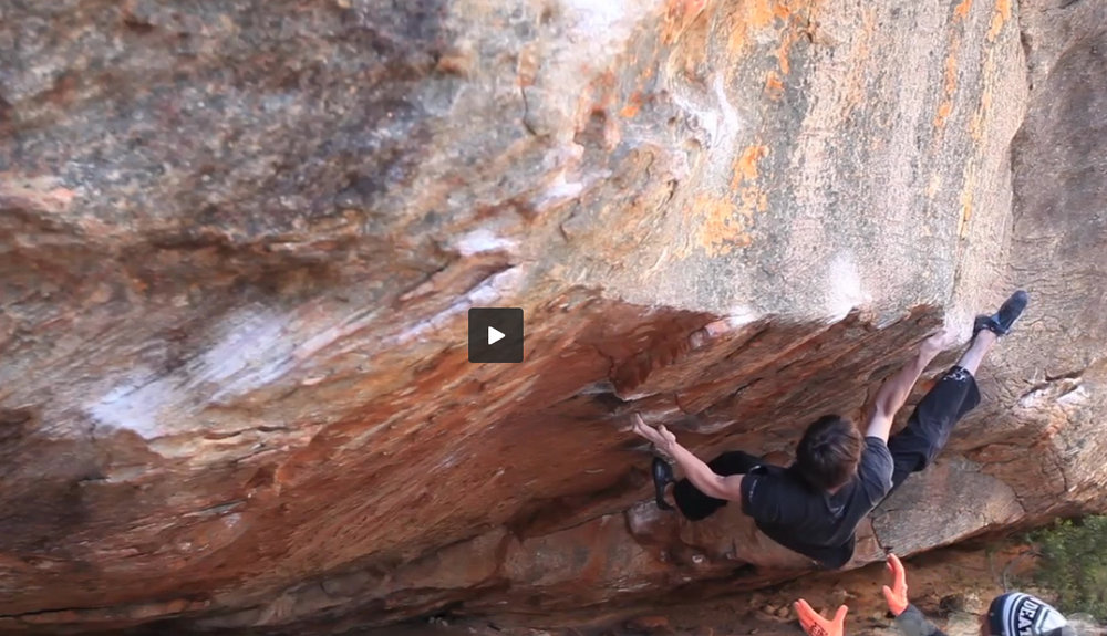 Dave Graham on The Vice, 8B, Rocklands, 139 kb