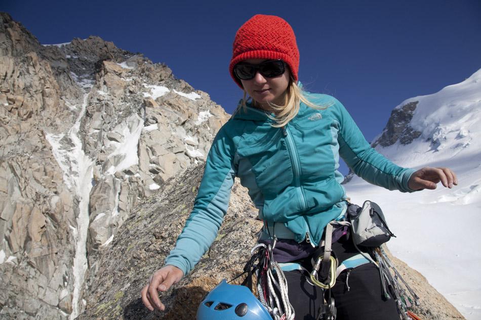 Hazel Findlay granite climbing in the Mont Blanc Range, 201 kb