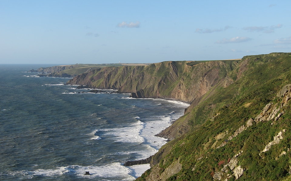 Looking north from Nabor Point towards Hartland Quay, 130 kb