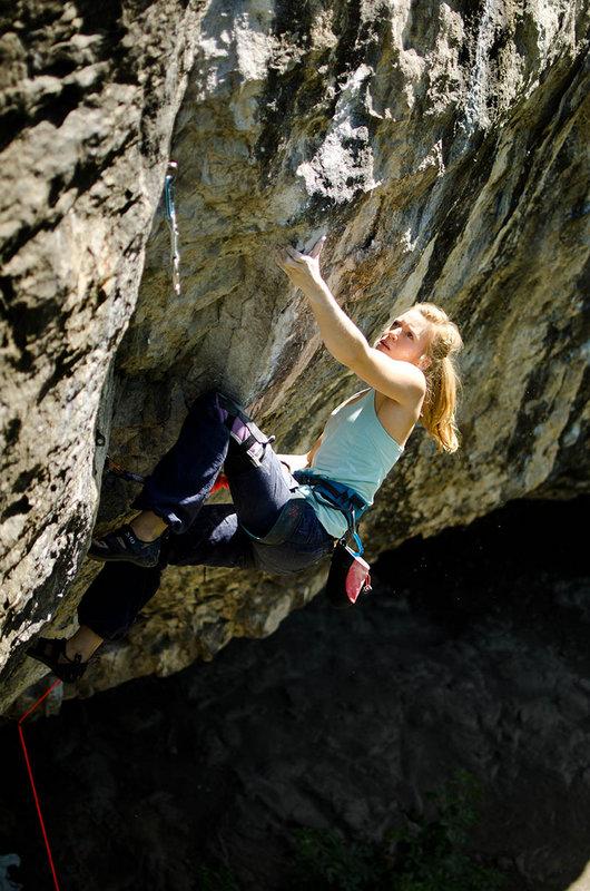 Mina Leslie-Wujastyk climbing Mecca... 8b+ at Raven Tor, 149 kb