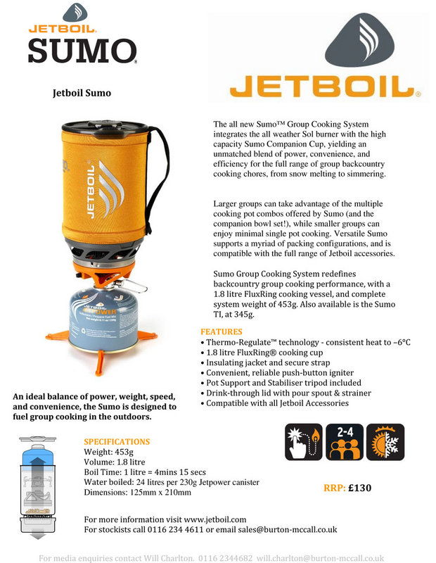Jetboil Sumo� Group Cooking System, 106 kb