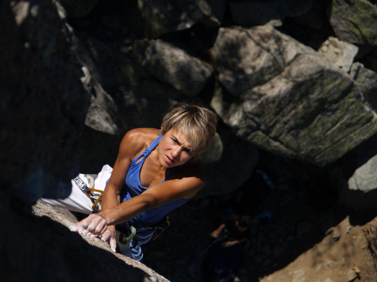Ex-world champion and 8c+ climber Liv Sansoz, 222 kb