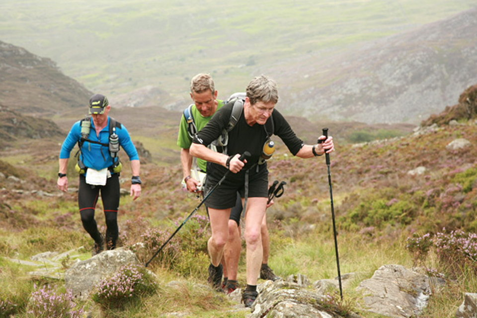 The evergreen Wendy Dodds who at 61 was the oldest competitor to complete the Dragon's Back Race (Day Two) , 128 kb
