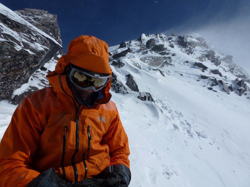 Andy Houseman in Alaska wearing Meru Gore Jacket, 147 kb